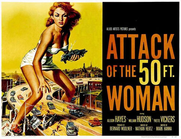 50-foot woman poster